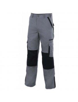 Pantaloni Bicolore Multitasche Da Lavoro VELILLA Plomo