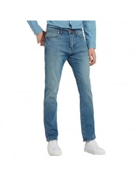 Jeans Uomo WRANGLER W16A23093 Spencer Used Stone