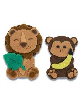 Fustella Bigz L Animali Leone Scimmia SIZZIX 663493
