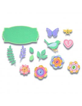 Fustelle Thinlits Sprng Things SIZZIX 663583