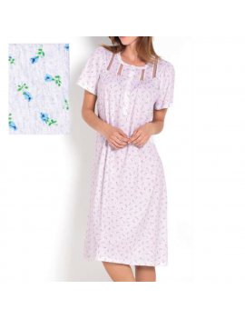 Camicia Da Notte Donna Serafino Mezza Manica Raglan LINCLALOR 73583