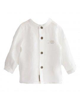 Camicia Neonato Manica Lunga Coreana 100% Lino iDO 4J07400