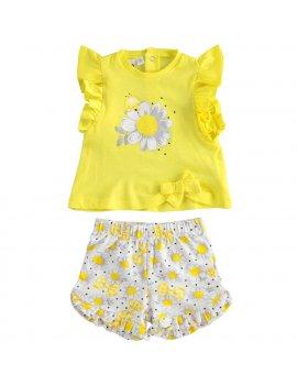 Completo Neonata In Cotone T-Shirt e Shorts iDO 4J65400