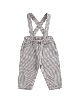 Salopette Neonato Pantalone Con Bretelle 100% Cotone iDO 4J10700