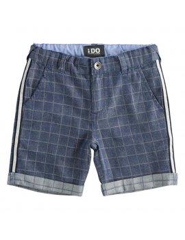 Pantalone Bambino In Twill 100% Cotone A Quadretti iDO 4J23800