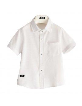 Camicia Bambino Manica Corta In Comodo Piquet iDO 4J67000