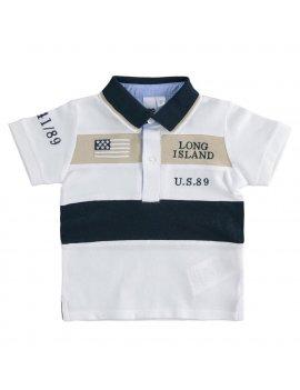 Polo Bambino a manica corta in piquet 100% cotone iDO 4J23300