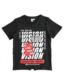 T-Shirt Bambino 100% cotone con grafica effetto optical iDO 4J38800