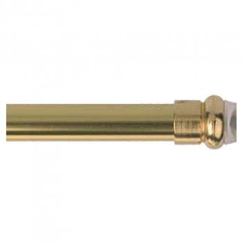 2 Bastoni Bris Bris 50cm 8mm Alluminio Anodizzato Oro Con Molla E Ventosa