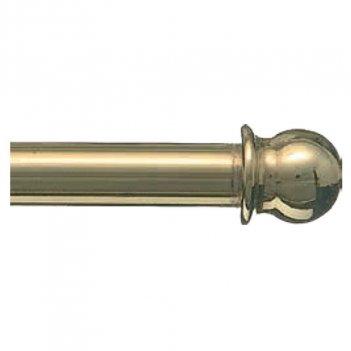 2 Bastoni Bris Bris 100cm 7mm Ottonato Oro Con Testina A Pallina Con Cancanetti