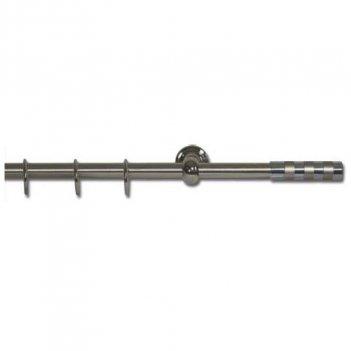 Set Bastone Per Tende 150-300cm Allungabile Con Terminali Pomo Eko