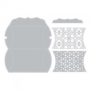 Fustella Thinlits Plus Scatola Cuscino Set da 5 SIZZIX 660844