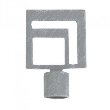 2 Terminali Bastone Tenda Geometrico Quadro LUANCE Diametro 20mm