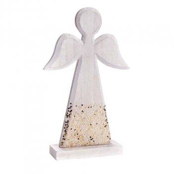 Angioletto Glitter In Legno 13X4X21,5cm