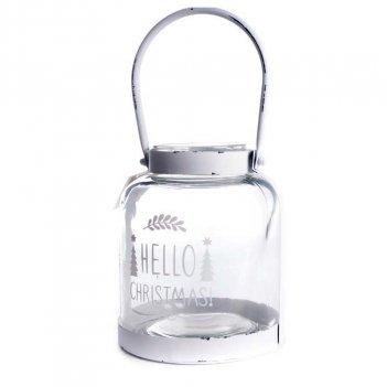 Portacandela Hello 15,3X19cm