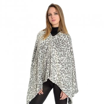 Poncho Leopard Flannel