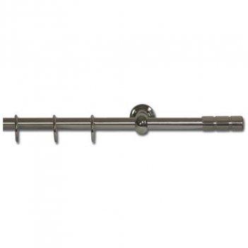 Set Bastone Per Tende 120-210cm Allungabile Con Terminali Pomo
