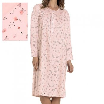 Camicia Da Notte Donna Over Serafino Manica Lunga Raglan LINCLALOR 73893
