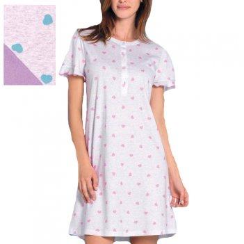Camicia Da Notte Donna Serafino Mezza Manica LINCLALOR 73531