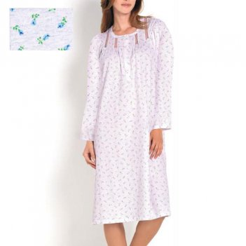 Camicia Da Notte Donna Serafino Manica Lunga Raglan LINCLALOR 73581