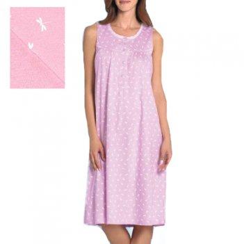 Camicia Da Notte Donna Serafino Senza Maniche Spalla Larga Linclalor 73601