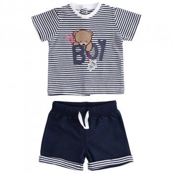 Completo Neonato T-Shirt Con Orsetto E Pantaloncino Corto iDO 4J09200