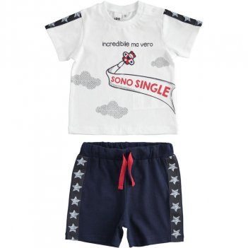 Completo Neonato T-Shirt e Pantalone Corto Incredibile ma vero... iDO 4J62300