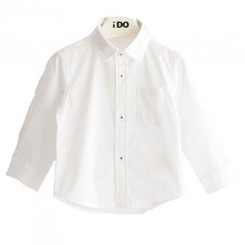 Camicia Bambino In Popeline Stretch iDO 4J20400