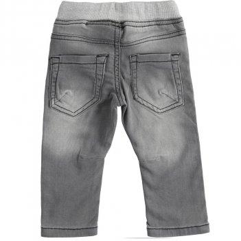 Pantalone Bambino In Denim Maglia Con Nastri In Gros Grain iDO 4J24800