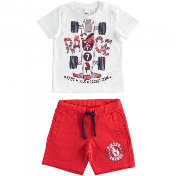 Completo Bambino T-Shirt E Pantalone Corto 100% Cotone iDO 4J02600