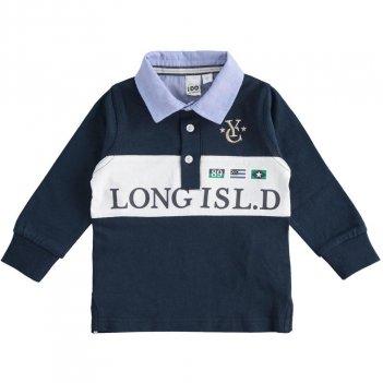 Polo Bambino in jersey 100% cotone con colletto a camicia iDO 4J22500