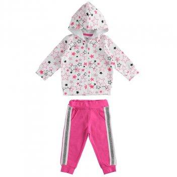 Tuta Bambina in felpina leggera stretch con zip con cappuccio iDO 4J27600