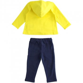 Tuta Bambina in cotone stretch con felpa full zip iDO 4J27700