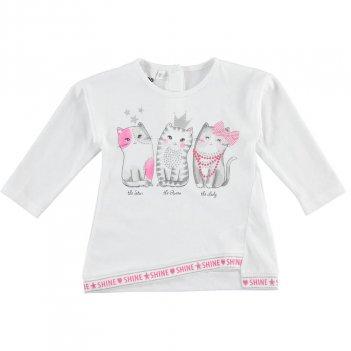 T-Shirt Bambina manica lunga 100% cotone iDO 4J31900