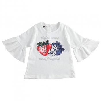 T-shirt Bambina 100% cotone con fragole iDO 4J32800