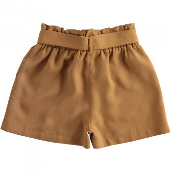 Pantaloncino Bambina in morbido tessuto di lyocel a vita alta iDO 4J52400