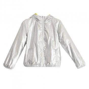 Giubbotto bambina modello giacca a vento in tessuto argento iDO 4J55700