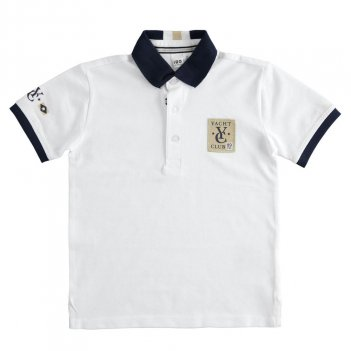 Polo Bambino in piquet con badge iDO 4J39000