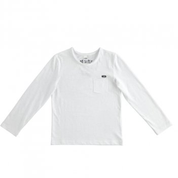 Maglietta Bambino girocollo 100% cotone con taschino iDO 4J39200