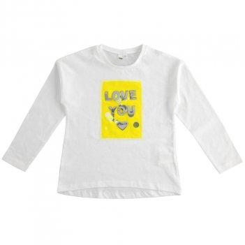 T-Shirt Bambina con applicazione di tulle e paillettes iDO 4J50500