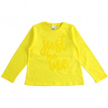 Maglietta Bambina girocollo 100% cotone con ricamo paillettes iDO 4J50800