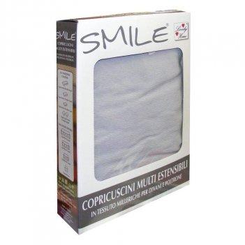 Coppia Copriseduta Copricuscino 1 Posto Smile 48-60cm