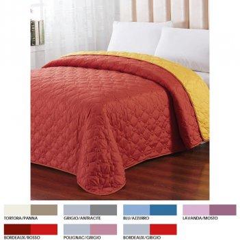 Copriletto 170X250 Bicolor Double Face Singolo