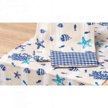 2 Strofinacci 45X65 Sea Life