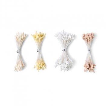 400pz Stami Di Fiori Bianco/Crema Making Essential SIZZIX 664614