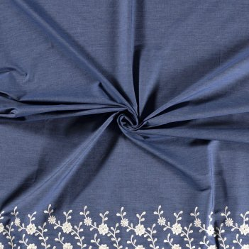 Tessuto Denim Ricamato Nature Altezza 145cm 130 g/m2 15019