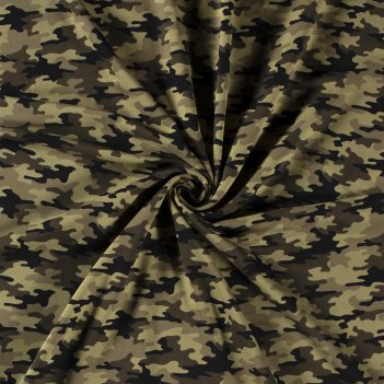Tessuto 16551 French Terry Camouflage Altezza 150cm 250 g/m2