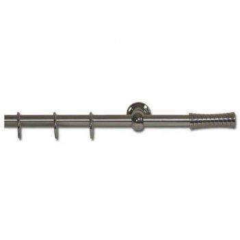Set Bastone Per Tende 150-300cm Allungabile Con Terminali Scriccio Eko