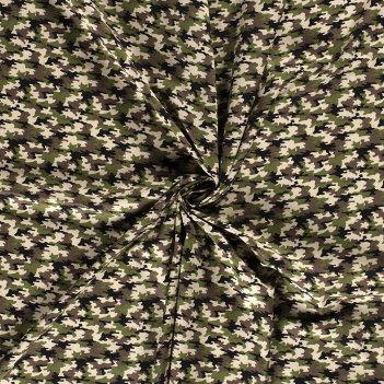 Tessuto 15798 Popeline Camouflage Altezza 140cm 115 g/m2