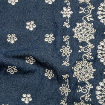 Tessuto Denim Ricamato Altezza 130cm MB10902R